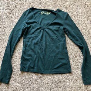 Victoria's Secret dark green long sleeve t-shirt